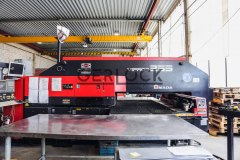 Production-line-for-security-doors-Gerlock.-Punch-machine-Amada
