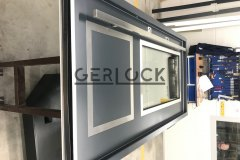 Assembling-security-door-with-long-handle-and-electronick-lock
